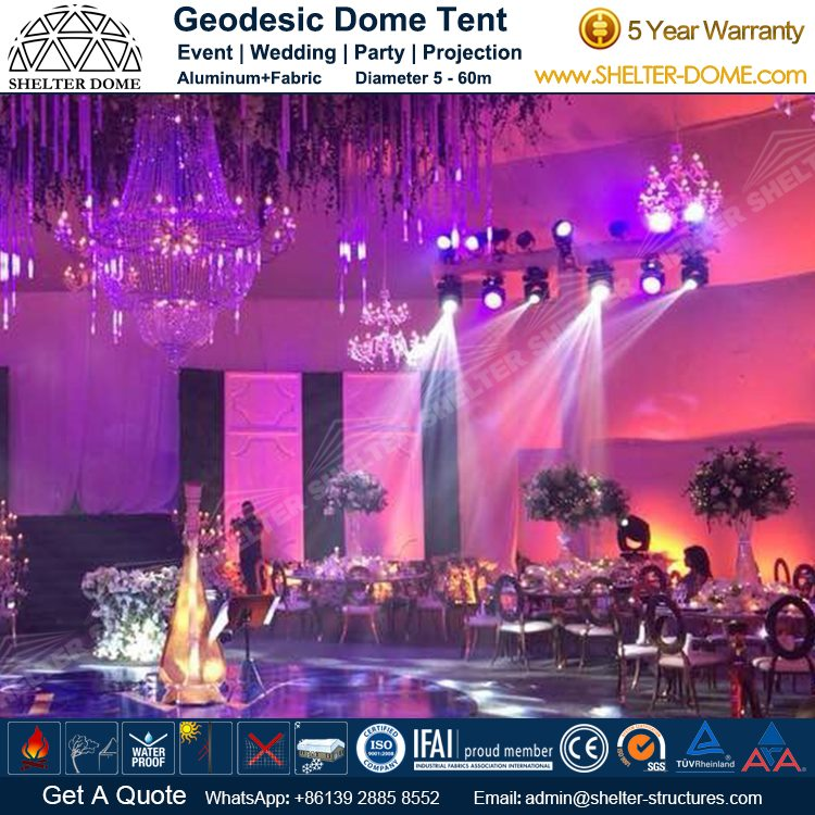 Luxury Wedding Dome Supplied for 800 Seats Banquet