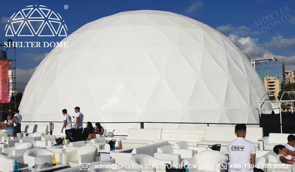 25m luxury wedding dome for sale - geodesic tent for marriage banquet, ceremony - 300 500 800 seats spherical catering tent (1)