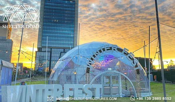 Custom Geodesic Designs for Winterfest Event - 12m Geodome Tent for Outdoor Activity, Brand Promotion, Children Playground (17)