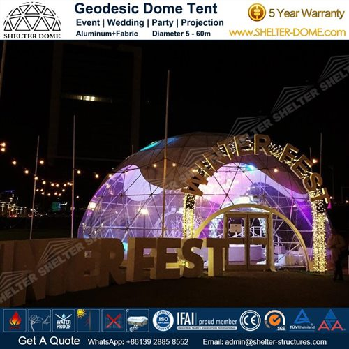 Custom Geodesic Designs for Winterfest Event