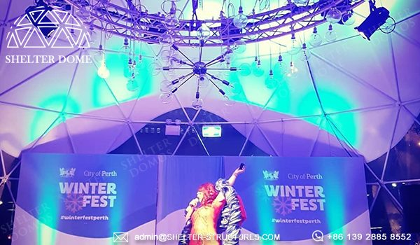 Custom Geodesic Designs for Winterfest Event - 12m Geodome Tent for Outdoor Activity, Brand Promotion, Children Playground (26)