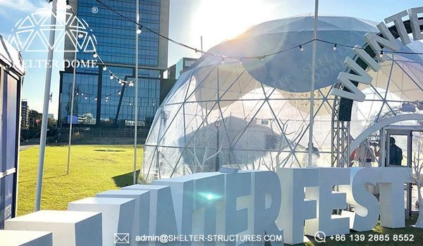 Custom Geodesic Designs for Winterfest Event - 12m Geodome Tent for Outdoor Activity, Brand Promotion, Children Playground (9)