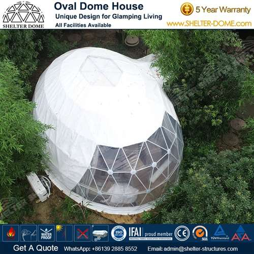 Elliptical Dome House Sale for Campsite Accommodation