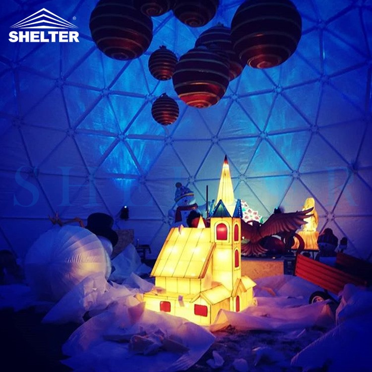 15m Connection Dome Serve as Christmas Event Venue