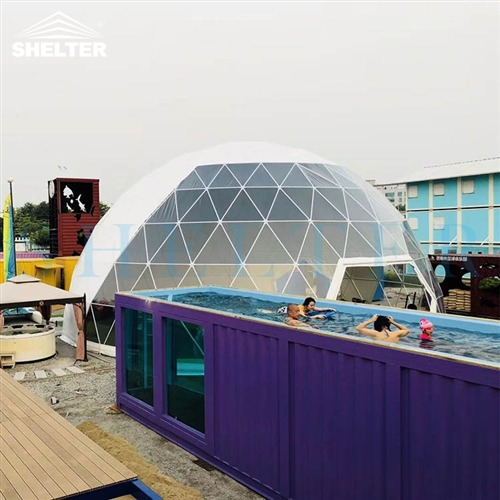 Dia.15m Geodesic Amusement Park Dome Tent
