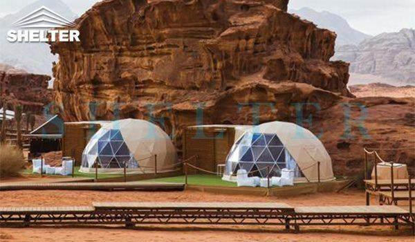 5m glamping dome tents-dwell domes-Wadi Rum-shelter dome-shelter domos