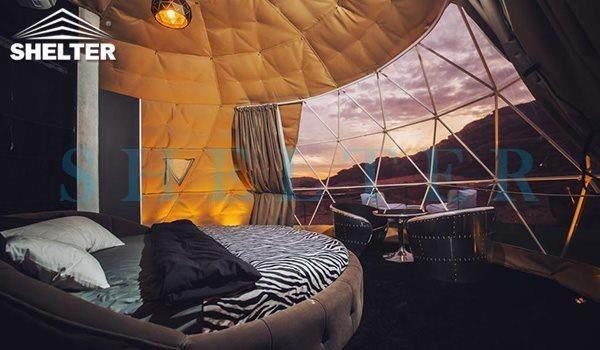 6m luxury dome tents-Wadi Rum-shelter dome-shelter domos_