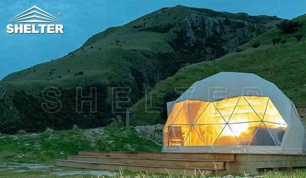 2 person dome tent provides hotel-like comfort-glamping dome-Shelter Dome7_Jc