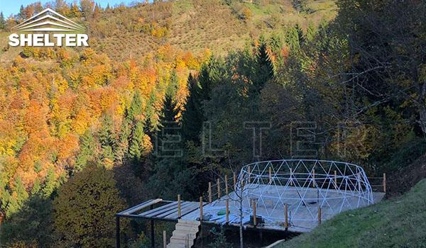 Glamping Domes In The Caucasus Mountain-geodesic structure-Shelter Dome-ecoresort-Shelter Domos