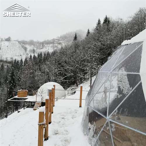 Glamping Domes With Hot Tub In The Caucasus Mountain