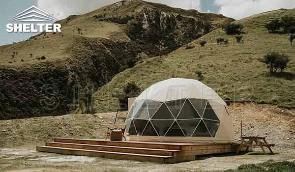 Glamping dome tent provides hotel-like comfort-glamping dome-Shelter Dome-1_Jc