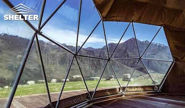 Glamping dome tent provides hotel-like comfort-glamping dome-Shelter Dome-2_Jc