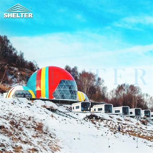 15m Custom Projection Dome Theater In The Ski Resort