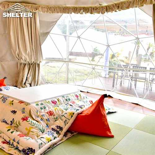 Hotel Domes With Full Facilities Geodesic Dome For Sale-glamping dome-Shelter Dome-14_Jc_Jc