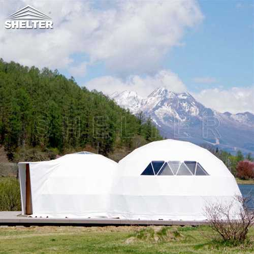 4 Man Dome Tent For Eco Resort | Custom Adjoined Dome